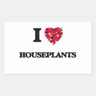 Amo Houseplants Pegatina Rectangular