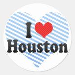 Amo Houston Etiqueta Redonda