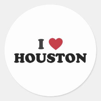 Amo Houston Tejas Pegatina Redonda