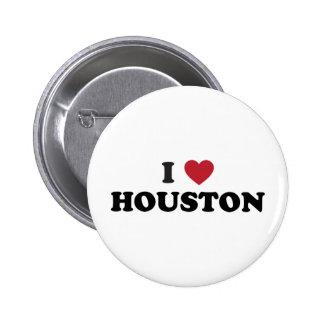 Amo Houston Tejas Pin Redondo De 2 Pulgadas