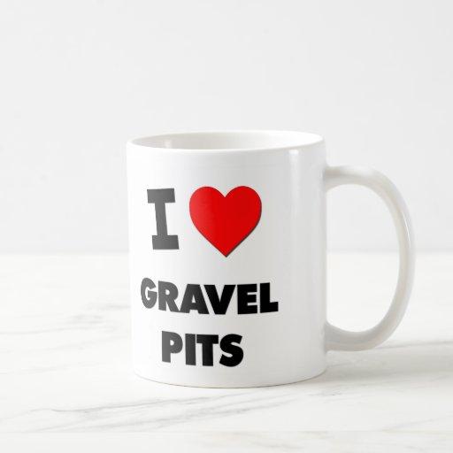 Amo hoyos de grava taza