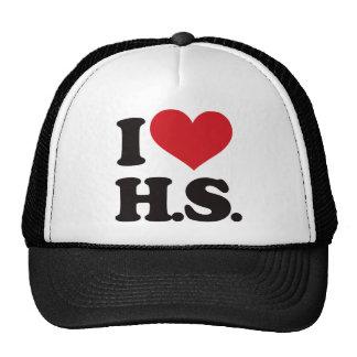 ¡Amo HS (High School secundaria)! Gorras De Camionero