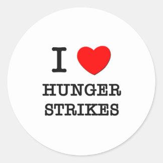 Amo huelgas de hambre etiqueta redonda