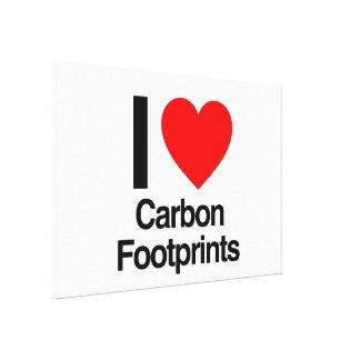 amo huellas del carbono lona estirada galerías