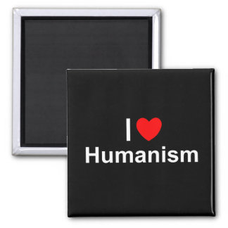 Amo humanismo (del corazón) imán cuadrado