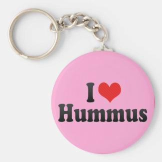 Amo Hummus Llavero Redondo Tipo Pin