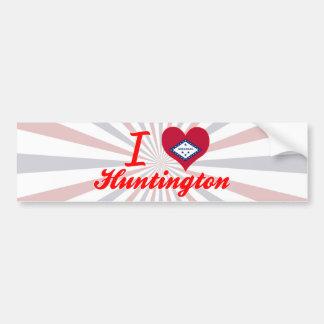 Amo Huntington, Arkansas Pegatina De Parachoque