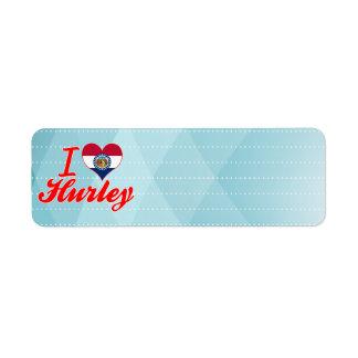 Amo Hurley, Missouri Etiqueta De Remite