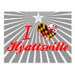 Amo Hyattsville, Maryland Tarjeta Postal