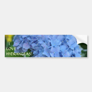 ¡AMO HYDRANGEAS! Jardinero floral de la pegatina p Pegatina De Parachoque