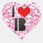 Amo IB Pegatina De Corazon Personalizadas