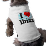 Amo Ibiza, España. Yo Encanta Ibiza, España Playera Sin Mangas Para Perro