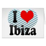 Amo Ibiza, España. Yo Encanta Ibiza, España Tarjetón