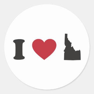 Amo Idaho Pegatina Redonda