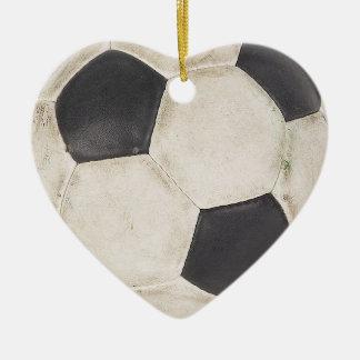 Amo idea del regalo del ornamento del árbol de adorno navideño de cerámica en forma de corazón