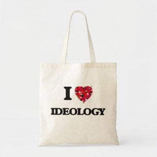 Amo ideología bolsa tela barata