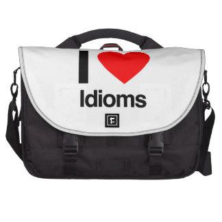 amo idiomas bolsas para portatil