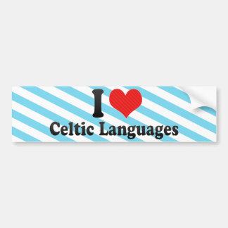 Amo idiomas célticas pegatina de parachoque