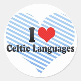 Amo idiomas célticas pegatina