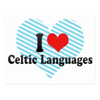 Amo idiomas célticas postal