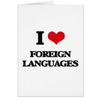 Amo idiomas extranjeros felicitaciones