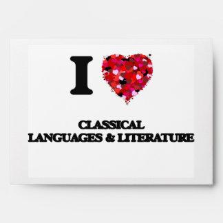 Amo idiomas y la literatura clásicas sobres
