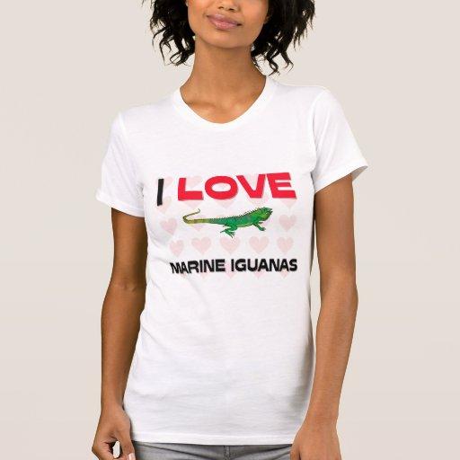 Amo iguanas marinas camisetas