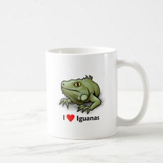 Amo iguanas taza de café