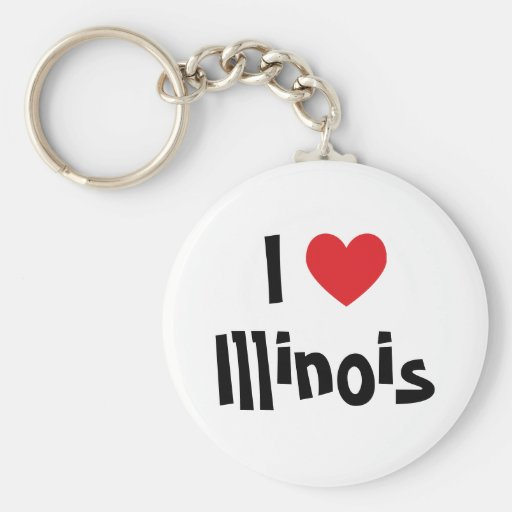 Amo Illinois Llavero Personalizado