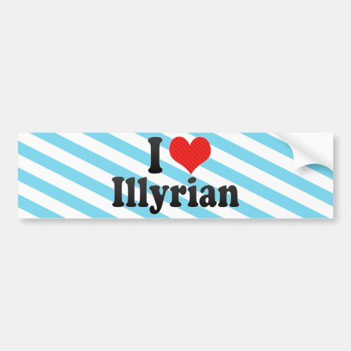 Amo Illyrian Etiqueta De Parachoque