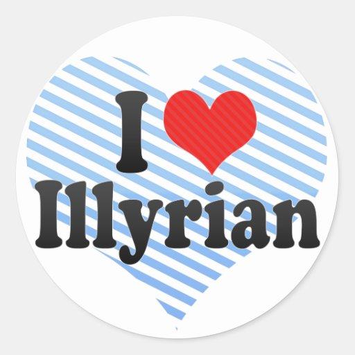 Amo Illyrian Etiquetas Redondas