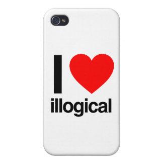 amo ilógico iPhone 4/4S funda