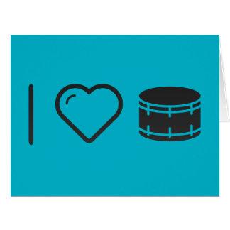Amo imágenes del tambor tarjeta de felicitación grande