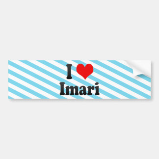 Amo Imari Japón Aisuru Imari Japón Etiqueta De Parachoque