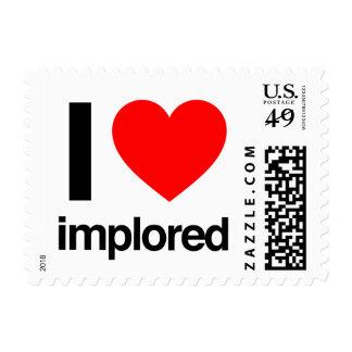 amo implorado sello