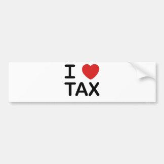 Amo impuesto etiqueta de parachoque