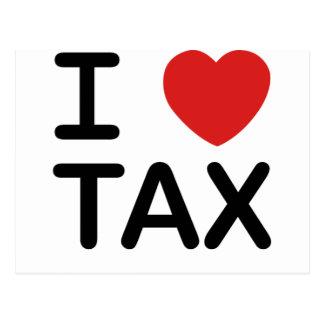 Amo impuesto tarjeta postal