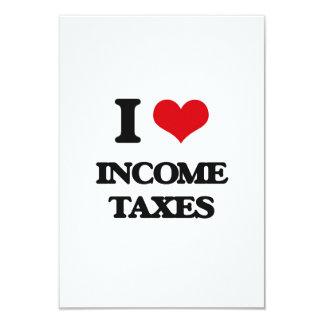Amo impuestos sobre la renta invitación 8,9 x 12,7 cm