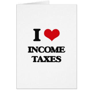 Amo impuestos sobre la renta tarjetas