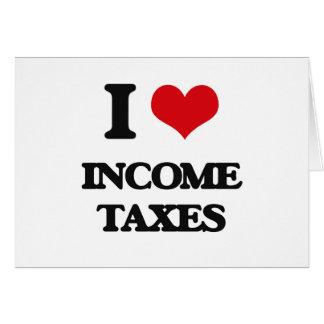 Amo impuestos sobre la renta felicitaciones