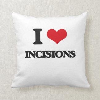 Amo incisiones almohada