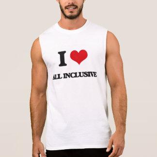 Amo inclusivo camisetas sin mangas