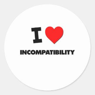 Amo incompatibilidad etiquetas redondas