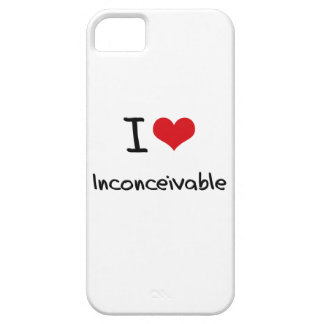 Amo inconcebible iPhone 5 carcasas