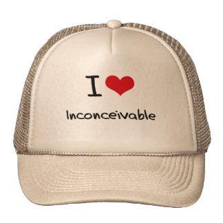 Amo inconcebible gorras de camionero