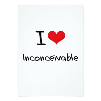 "Amo inconcebible invitación 5"" x 7"""