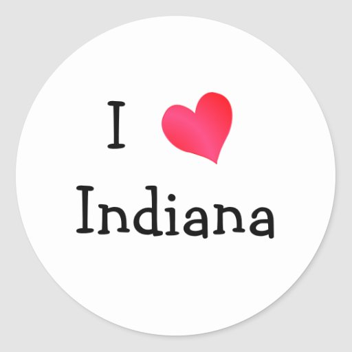 Amo Indiana Pegatina Redonda