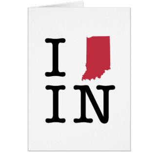Amo Indiana Tarjeta De Felicitación