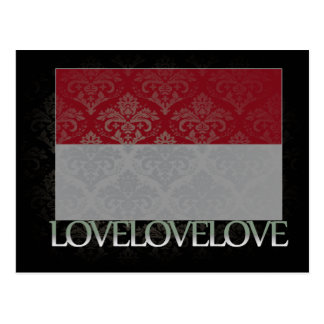 Amo Indonesia fresca Tarjeta Postal