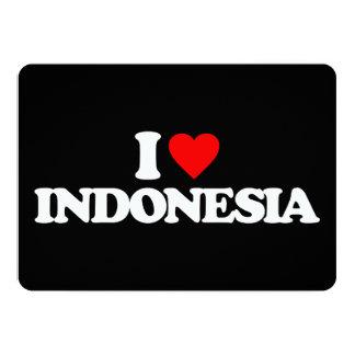AMO INDONESIA INVITACIÓN 12,7 X 17,8 CM